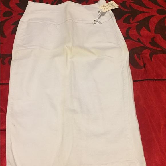 Dresses & Skirts - White high waist skirt